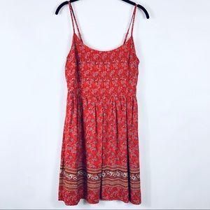 Old Navy Bandana Print Cami Dress Floral Orange M